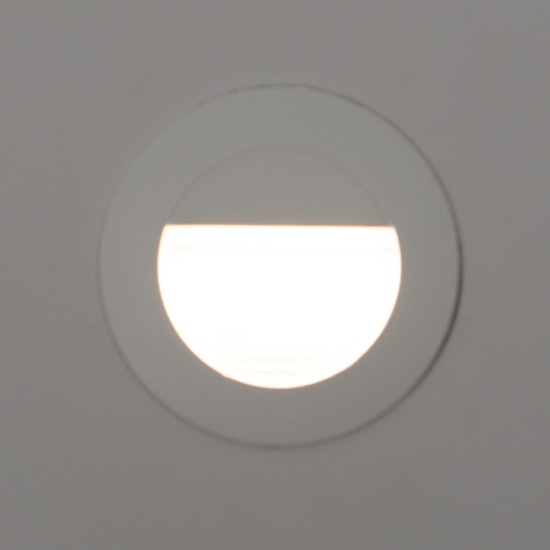 Mini Carpio 1.2W Cool White LED Round Recessed Wall Wash Light White