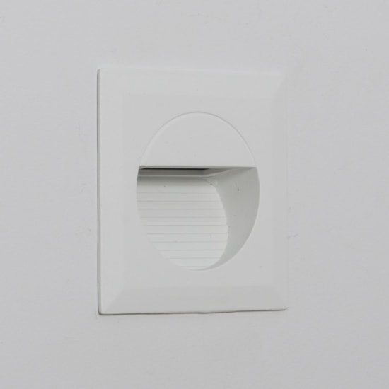 Mini Carpio 1.2W Warm White LED Square Recessed Wall Wash Light White
