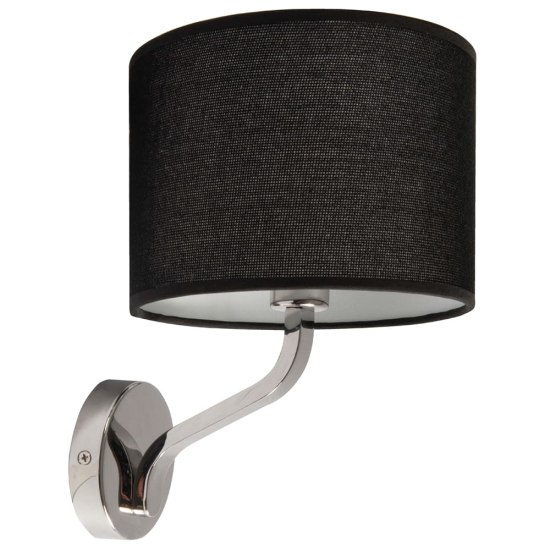 Ocara 40W E14 Wall Lamp with Black Shade
