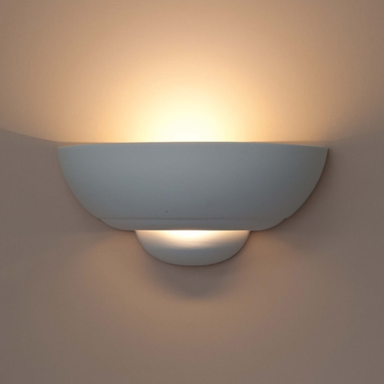 Nicosia Ceramic 2x 13W LED Wall Light
