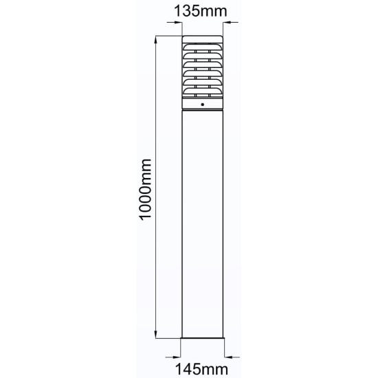 Titano 1000mm 42W TC-T Low Energy Bollard Stainless Steel