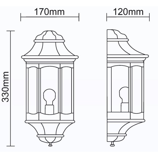Rio 13W Low Energy Flush Wall Lantern with Opal Diffuser White