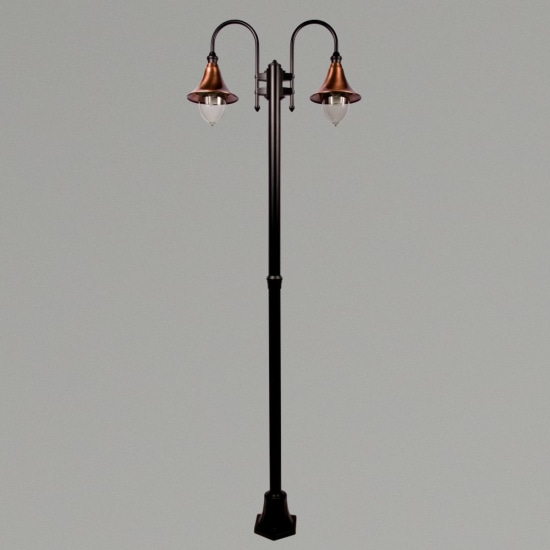 Lampara E27 Twin Street Post Black/Copper