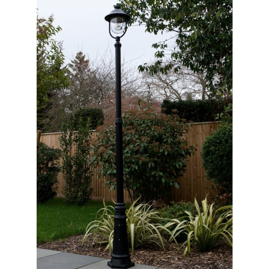 Romantica E27 Single Street Post Lantern Black