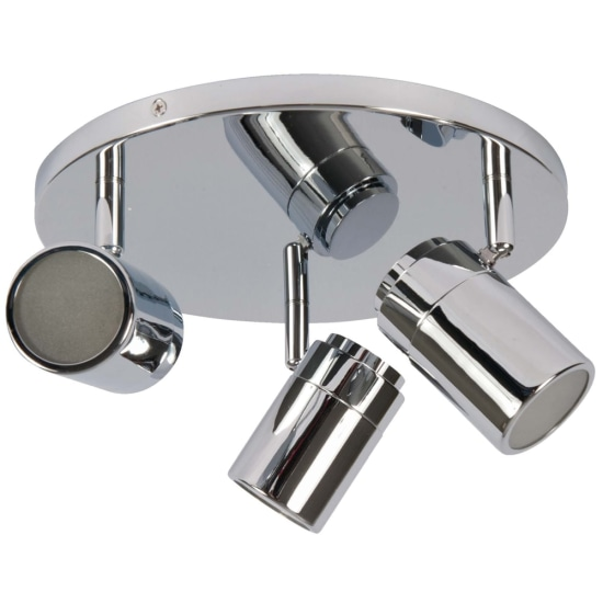 Novas IP44 Triple Plate Spotlight Chrome