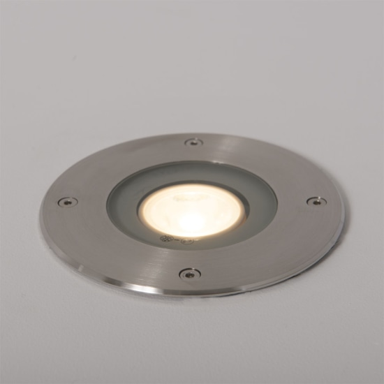 Fuente 5W 3000K LED Round Ground Light Stainless Steel