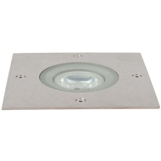 Fuente 5W 3000K LED Square Ground Light Stainless Steel
