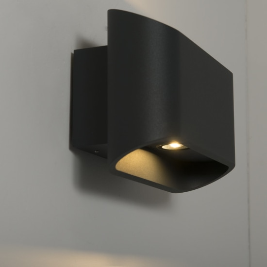 Orsay 2x 5W LED Up/Down Wall Light Anthracite
