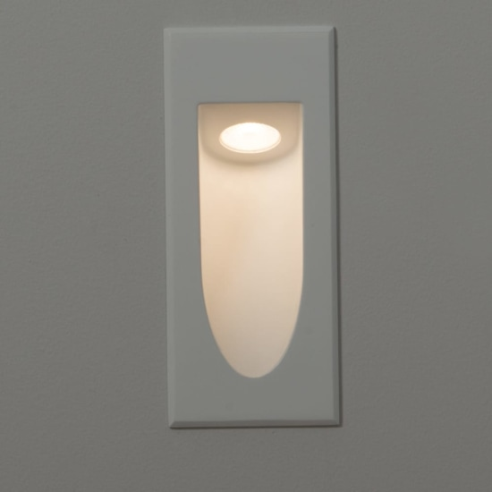 Ogive 1W LED Recessed Wall Light White
