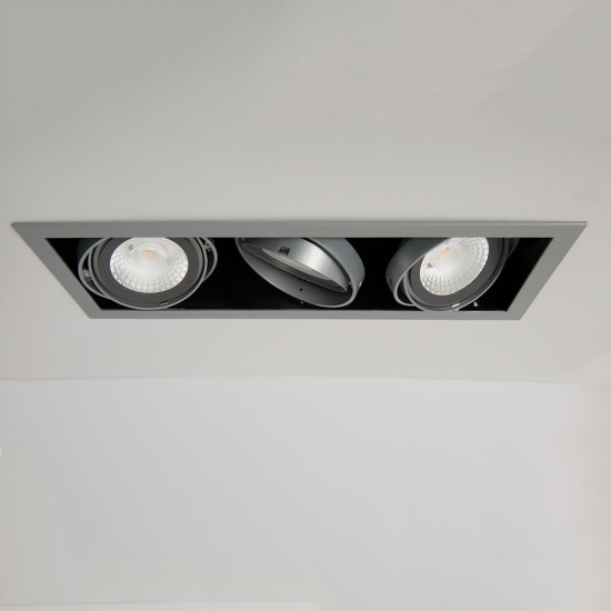 Chieti AR111 Triple Light Box Silver