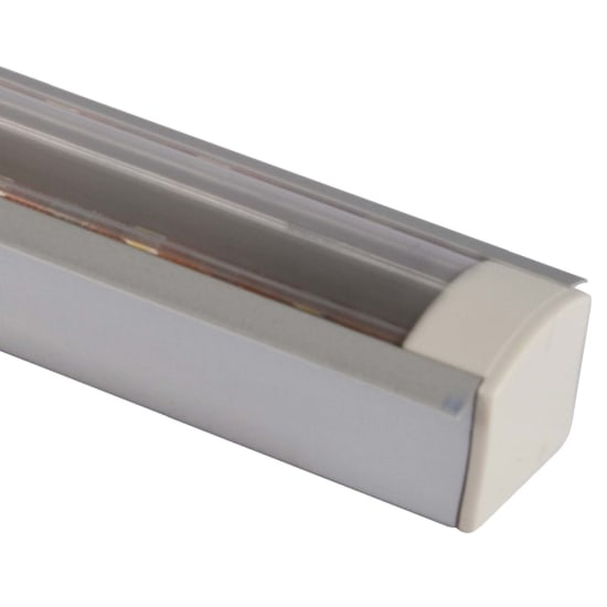 Novara 2m Recessed Profile Bar with Clear Diffuser
