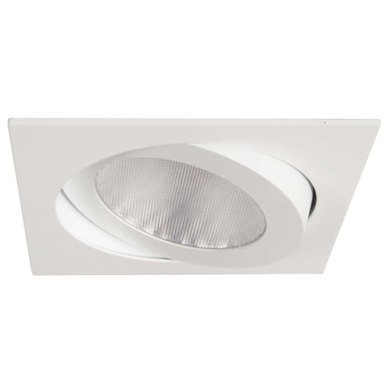 Rock 26W 3000K LED IP20 Square White Tilt Downlight