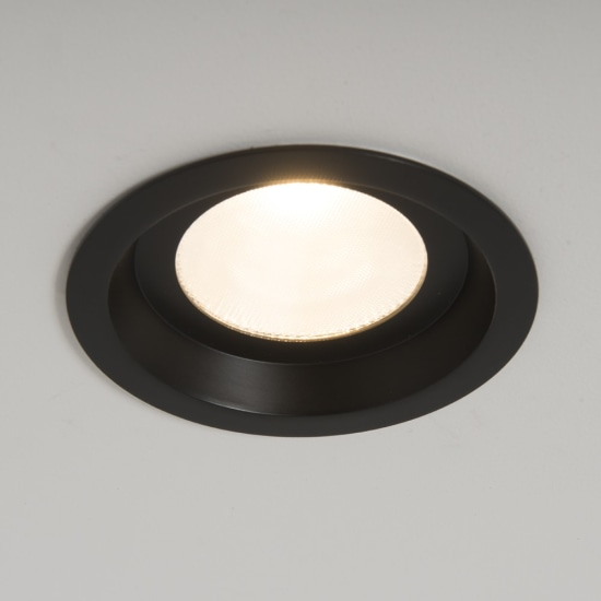Ridge 26W 3000K LED IP44 Round Black Downlight