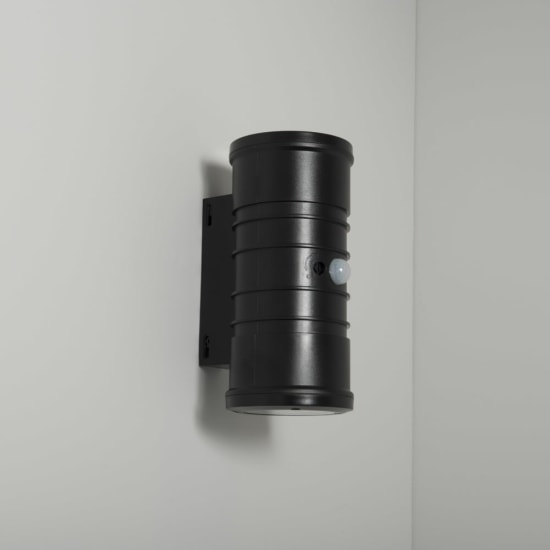 Norcia 10W 4000K LED Black Polycarbonate Up & Down Wall Light with Dimming Sensor