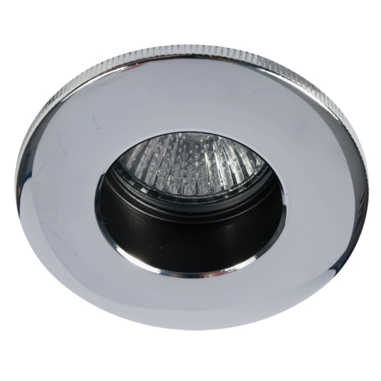 Fire Rated 50W GU10 Baffle Downlight Chrome