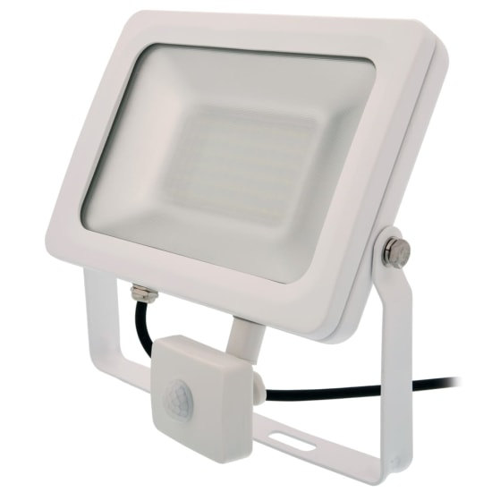 Siena 30W 6000K LED Floodlight with PIR White