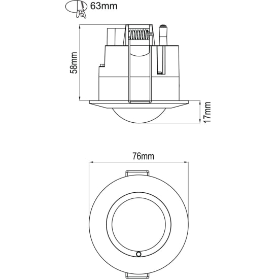 Internal Recessed Microwave Sensor