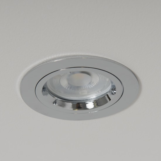WiZ GU10 RGB + CCT LED Twist and Lock Downlight Chrome
