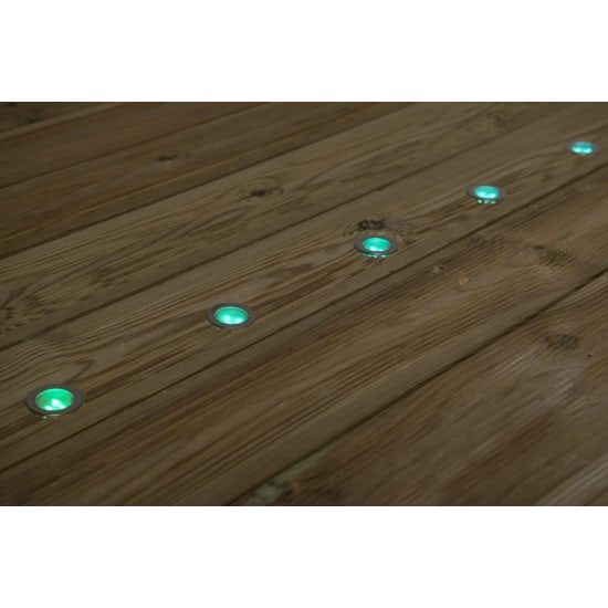 Cabello 10 x 0.4W RGB LED Light Decking Kit