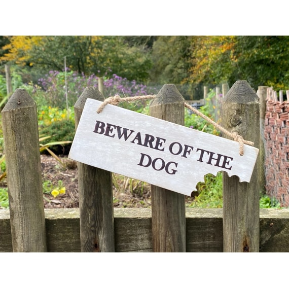 Garden Sign - Beware of the Dog NEW