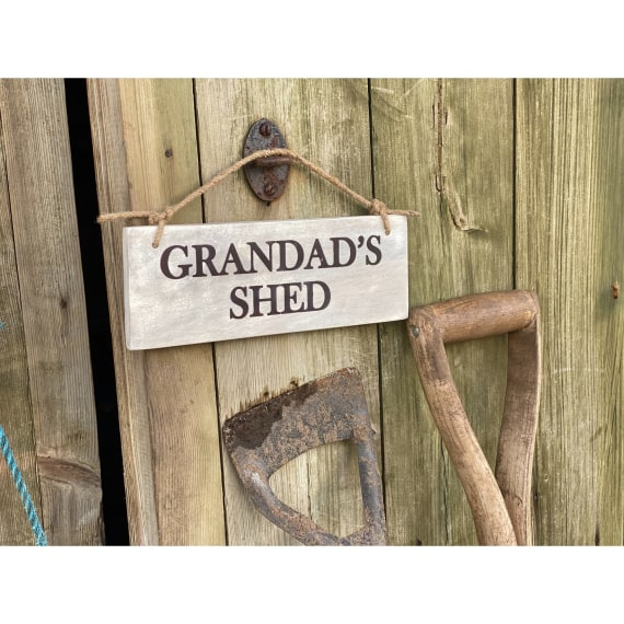 Garden Sign - Grandad's Shed NEW