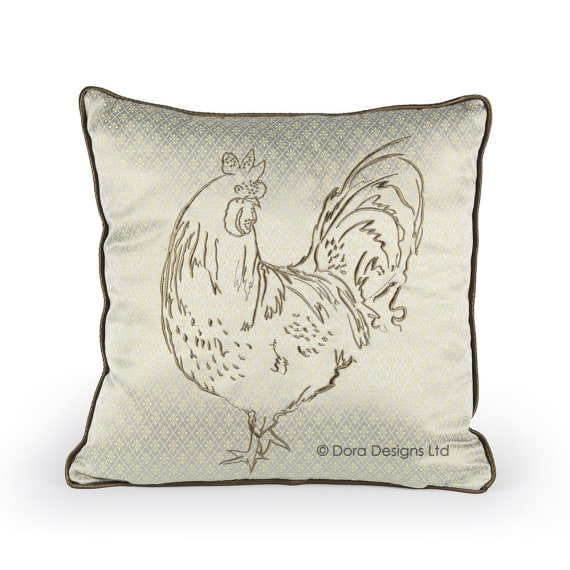 Posh Cockerel Cushion by Dora Designs