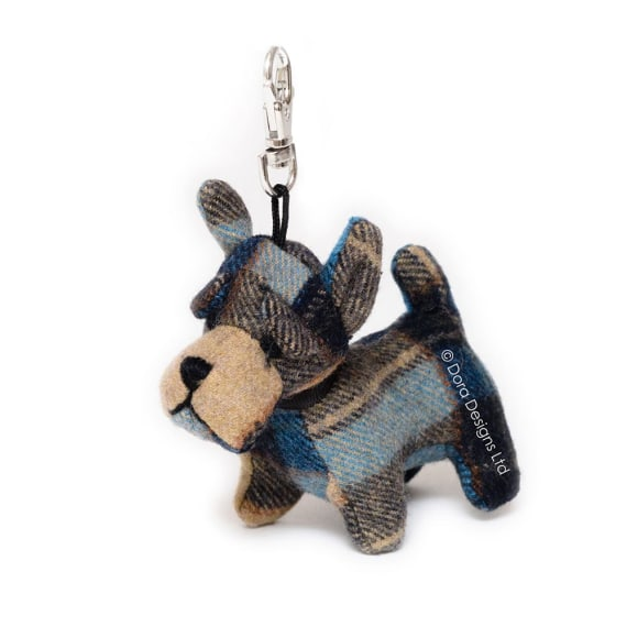 Plaid Scottie Key Ring by Dora Designs