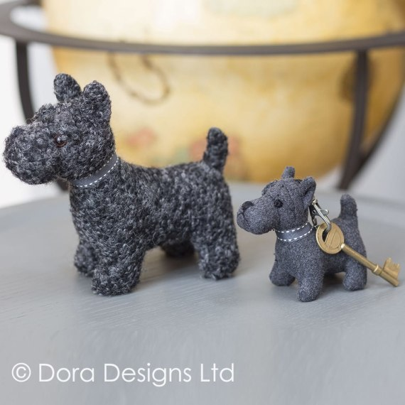 Mac The Scottie Dog Key Ring by Dora Designs