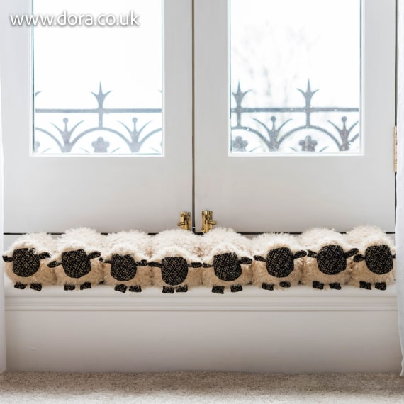 Flock of Sheep Draught Excluder by Dora Designs