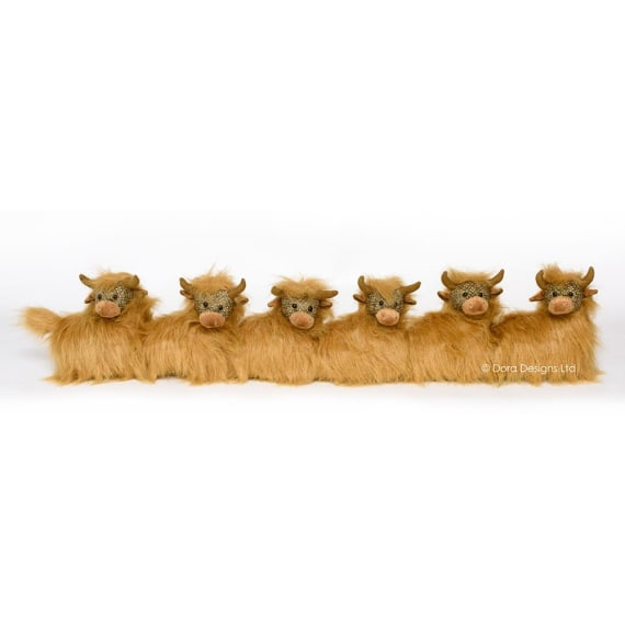 Angus Highland Cow Draught Excluder