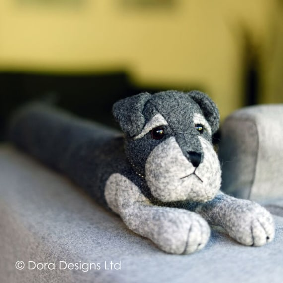 Sugar Bear Senior Schnauzer Dog Draught Excluder