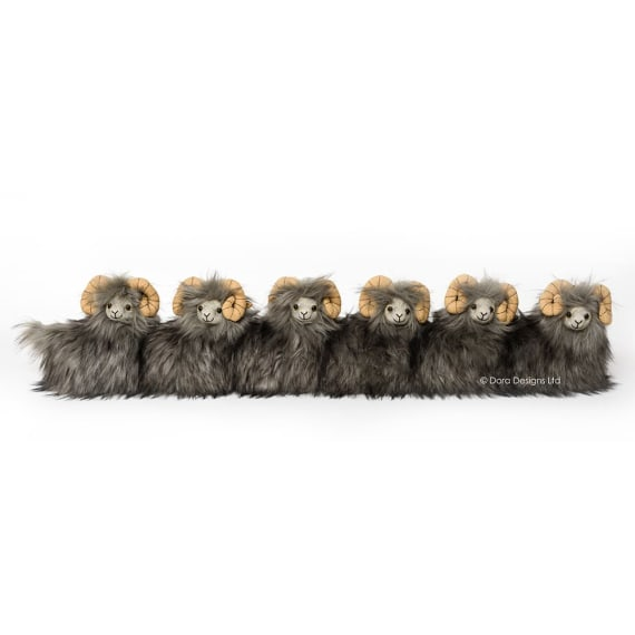 Posh Heardy Sheep Draught Excluder by Dora Designs