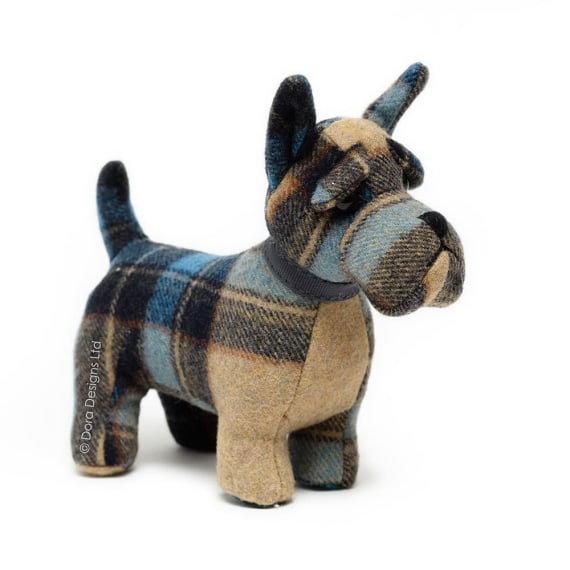Plaid Scottie Dog Paperweight by Dora Designs
