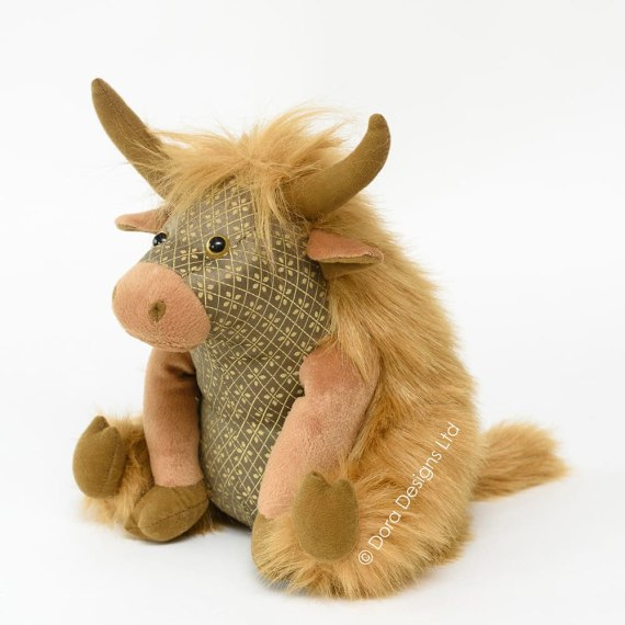 Angus Highland Cow Doorstop by Dora Designs