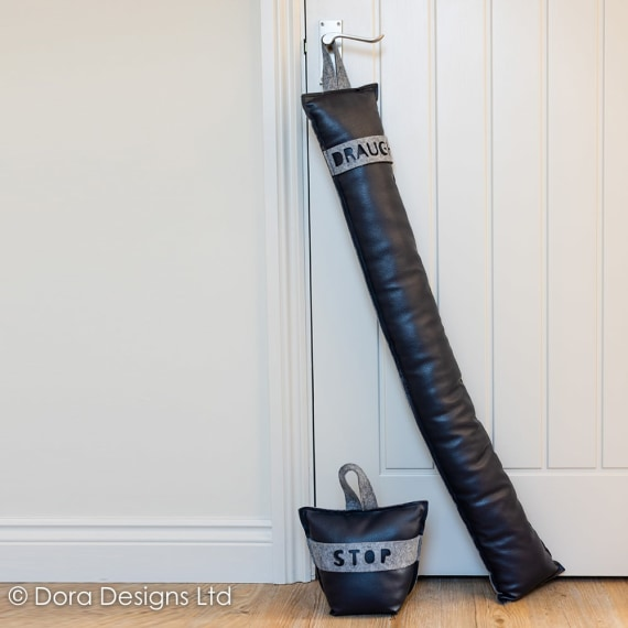 Felt & Faux Draught Excluder by Dora Designs
