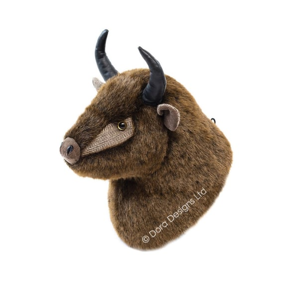 Brutis Bison Trophy Head by Dora Designs