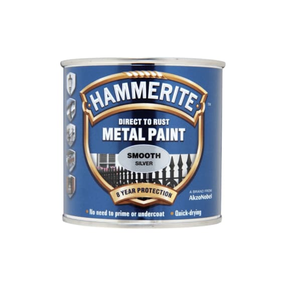 Hammerite Direct To Rust Metal Paint Smooth Silver