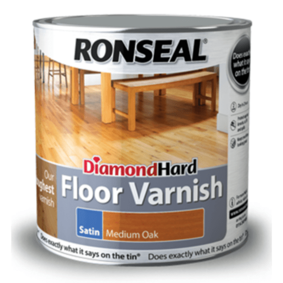 Ronseal Diamond Hard Floor Varnish Hard Wearing Satin Floor
