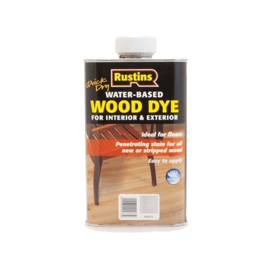 Rustins Water Based Wood Dye White - 250ml