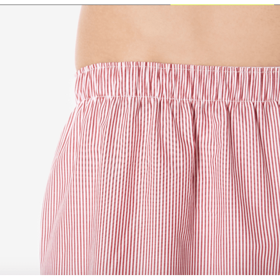 CLASSIC Boxer Shorts - White/Red/Navy Pinstripe