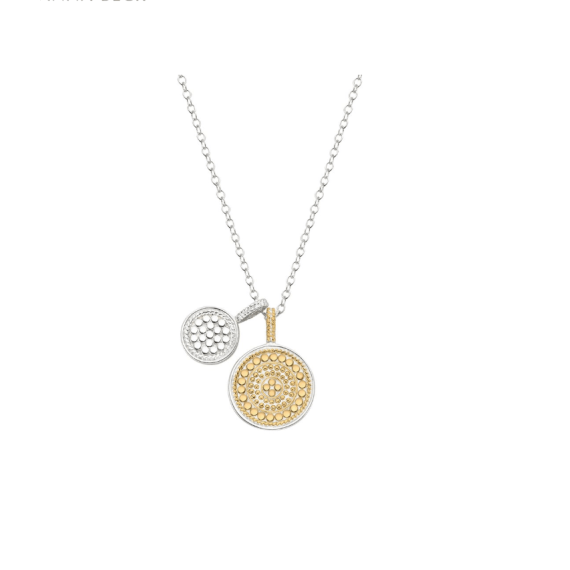 DOUBLE DISC CHARM Necklace - Gold