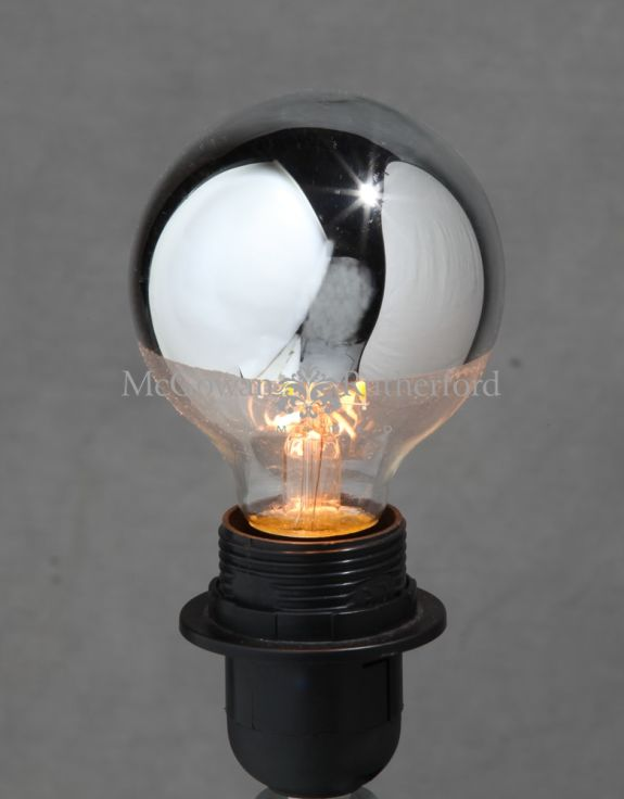 LED 3w Filament Bulb with Silver Crown (B22)