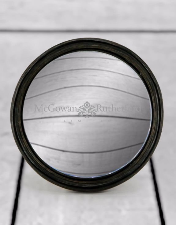 Black Thin Framed Large Convex Mirror