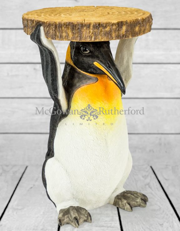 "Penguin Holding ""Trunk Slice"" Side Table"