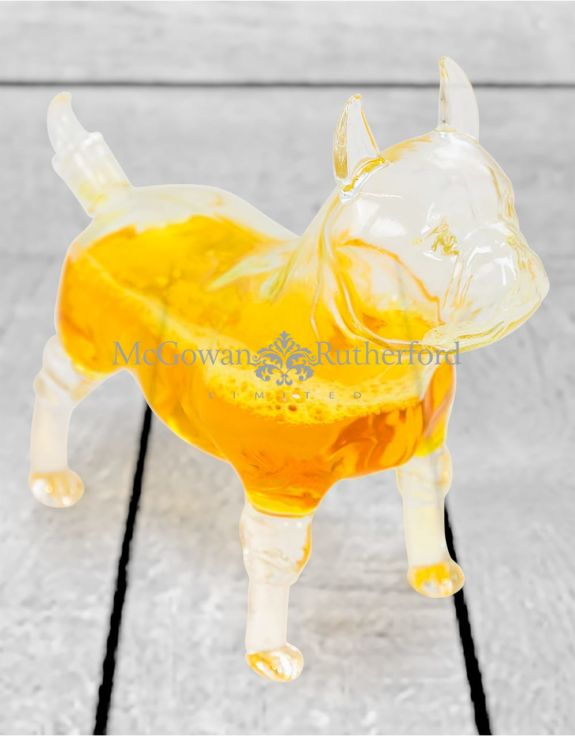 French Bulldog Glass Drinks Decanter