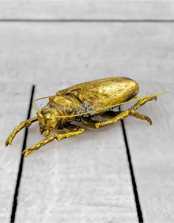 Large Gold Beetle Wall Decor