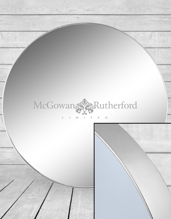 Extra Large Round Silver Framed Arden Wall Mirror