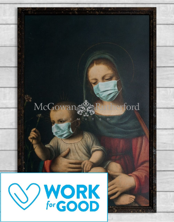 Antiqued Madonna with Child Wall Art