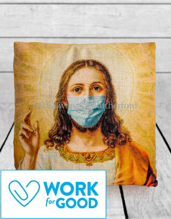 Jesus Face Mask Cushion