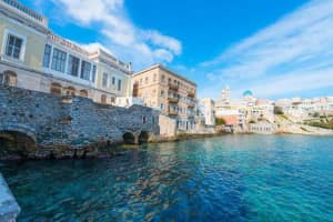 Greece Siros Island, Main capitol wide view